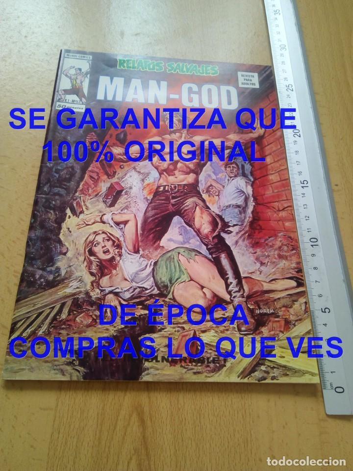 MAN GOD V1 53 VERTICE RELATOS SALVAJES U57 (Tebeos y Comics - Vértice - Relatos Salvajes)