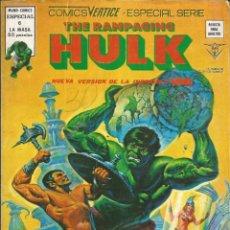 Cómics: THE RAMPAGING HULK - ESPECIAL Nº 6 Y TODO EL MAR CON MONSTRUOS - MUNDI COMICS - VERTICE - AÑO 1979. Lote 278497428