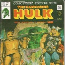 Cómics: THE RAMPAGING HULK - ESPECIAL Nº 9 VENGAR A LA TIERRA - MUNDI COMICS - VERTICE - AÑO 1979. Lote 278497923
