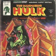 Cómics: THE RAMPAGING HULK - ESPECIAL Nº 11 EL NIÑO QUE GRITÓ... ¡MASA! - MUNDI COMICS - VERTICE - AÑO 1979. Lote 278498098