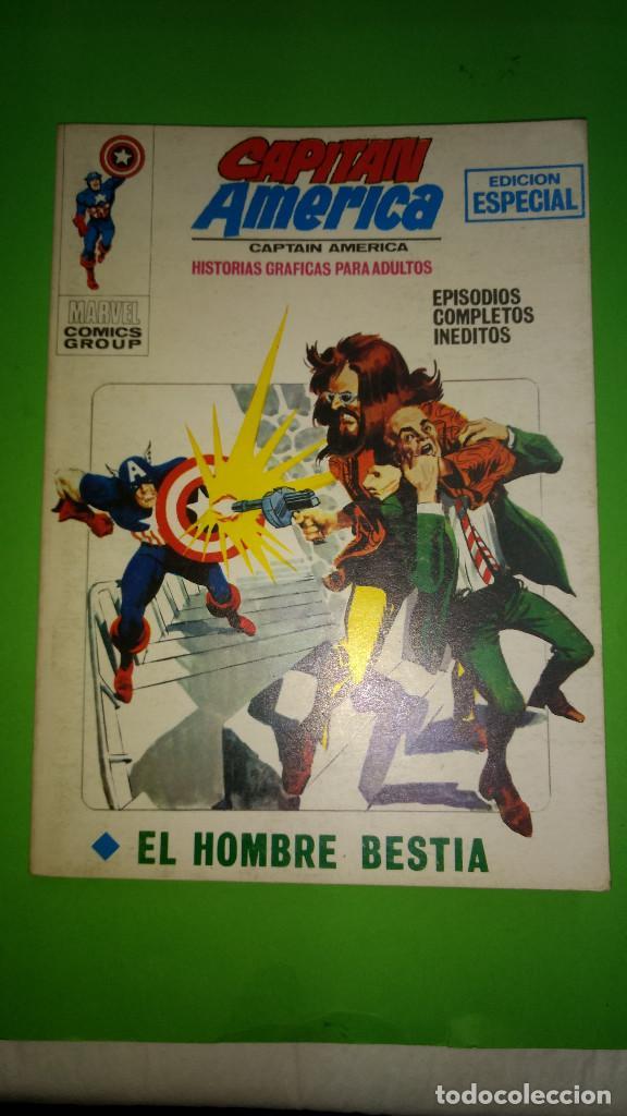 CAPITAN AMERICA VOL.1 Nº 8 VÉRTICE AÑO 70 BUENA CONSERVACION 1º EDICION DE 25 PTAS (Tebeos y Comics - Vértice - V.1)