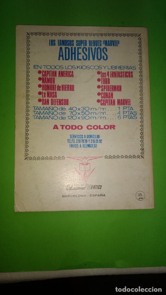 Cómics: LOS VENGADORES VOL.1 Nº 39 VÉRTICE año 70 BIEN CONSERVADO 1º edicion de 25 ptas - Foto 2 - 278567163