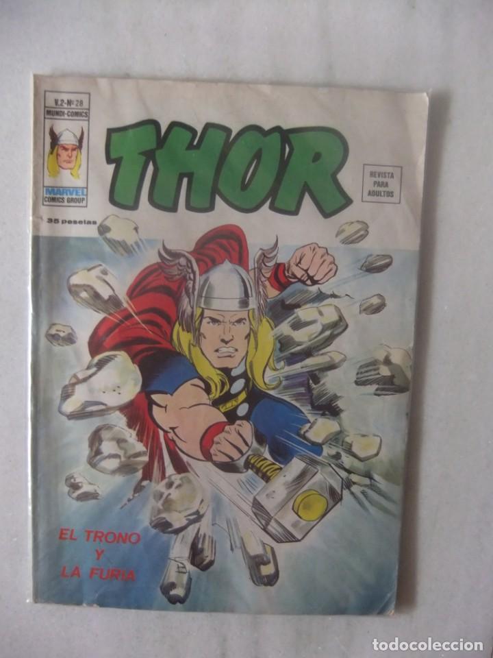 THOR V.2 Nº 28 EL TRONO Y LA FURIA EDICIONES VERTICE (Tebeos y Comics - Vértice - Thor)