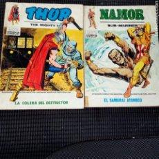 Cómics: LOTE 2 COMICS VERTICE THOR Y NAMOR INCOMPLETOS. Lote 284406408