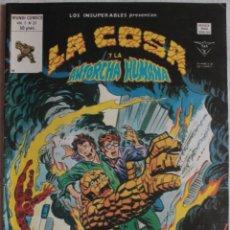 Cómics: LOS INSUPERABLES LA COSA Y LA ANTORCHA HUMANA / Nº 31 / PRUEBA Y ERROR / ED VÉRTICE - REF.074. Lote 284721343