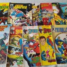Comics: MUNDI COMICS VERTICE LOTE SPIDERMAN PATULLA X DAN DEFENSOR MOTORISTA FANTASMA CAPITAN AMERICA. Lote 286166903