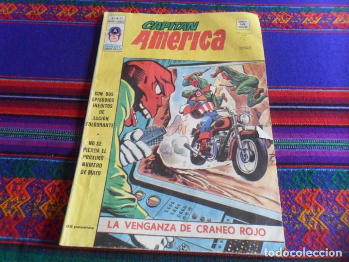 VÉRTICE VOL. 3 CAPITÁN AMÉRICA Nº 15 LA VENGANZA DE CRÁNEO ROJO. 1977. 35 PTS. Nº 45. A TODO COLOR. (Tebeos y Comics - Vértice - Capitán América)