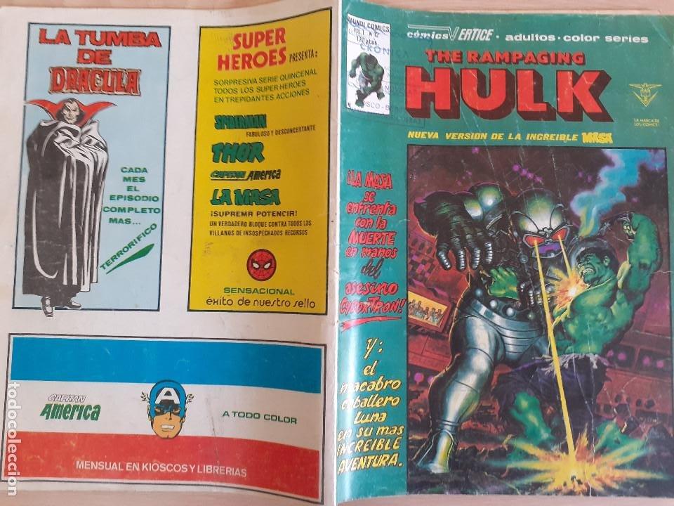 Cómics: The Rampaging Hulk V.1 nº12. La Masa. Vertice - Foto 2 - 286346068