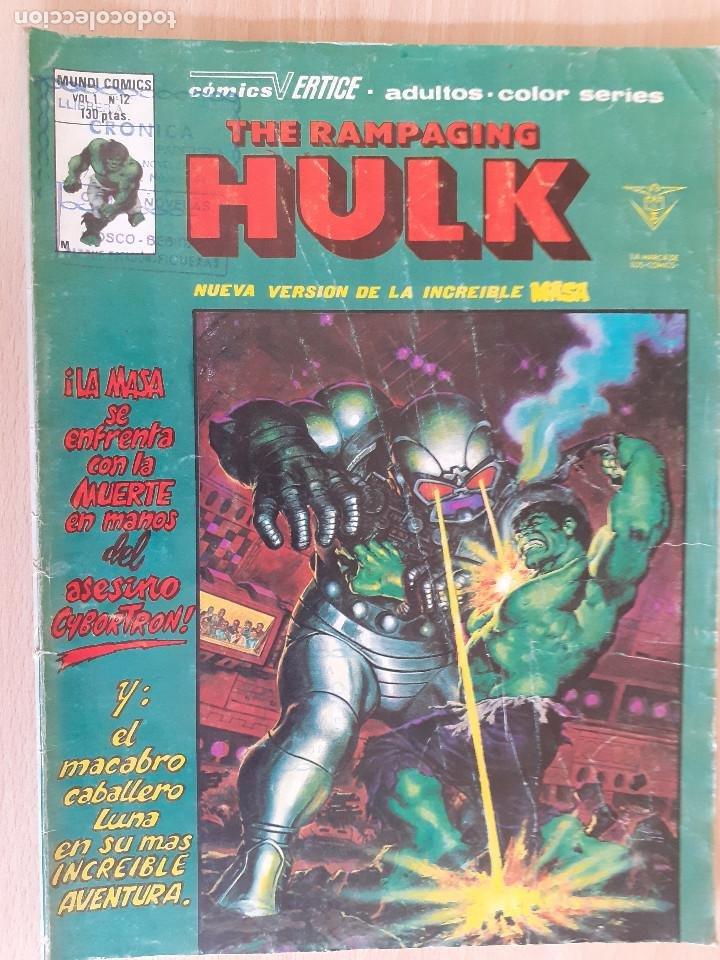 THE RAMPAGING HULK V.1 Nº12. LA MASA. VERTICE (Tebeos y Comics - Vértice - La Masa)