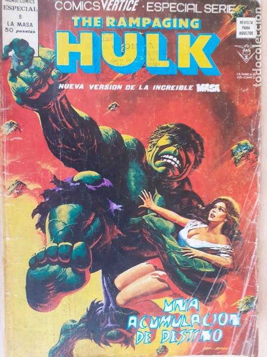 THE RAMPAGING HULK . LA MASA Nº 8. VERTICE 1979 (Tebeos y Comics - Vértice - La Masa)