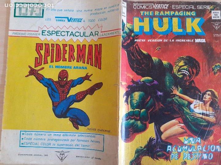 Cómics: The Rampaging Hulk . La Masa nº 8. Vertice 1979 - Foto 2 - 286346528