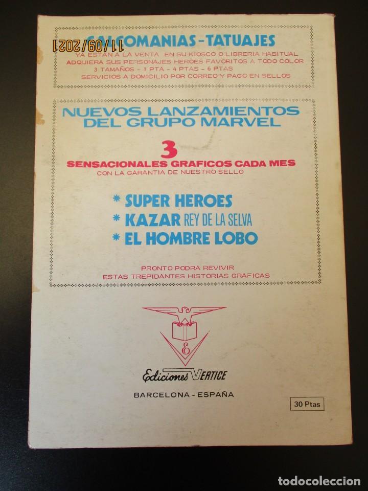 Cómics: VENGADORES, LOS (1969, VERTICE) 44 · V-1973 · VENGADOR CONTRA INHUMANO - Foto 3 - 287021548