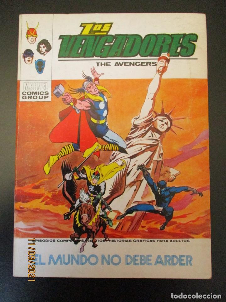 VENGADORES, LOS (1969, VERTICE) 39 · X-1972 · EL MUNDO NO DEBE ARDER (Tebeos y Comics - Vértice - Vengadores)