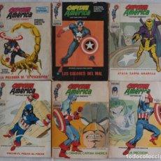 Cómics: LOTE DE 6 COMICS CAPITÁN AMÉRICA / Nº 9-25-33-34-35-36 / POCKET / VÉRTICE - REF.248. Lote 287440318