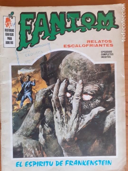 FANTOM Nº 5. EL ESPÍRITU DE FRANKENSTEIN. VERTICE 1972 (Tebeos y Comics - Vértice - Terror)