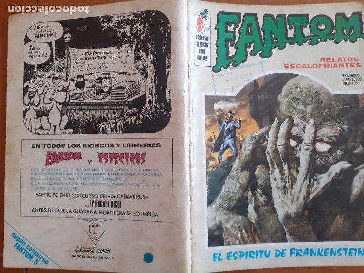 Cómics: Fantom nº 5. El espíritu de Frankenstein. Vertice 1972 - Foto 2 - 287585048