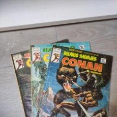 Cómics: LOTE 3 RELATOS SALVAJES CONAN MUNDI COMICS VERTICE. Lote 287607558
