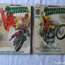 Cómics: 2 EL MOTORISTA FANTASMA, LA DANZA DE LA MUERTE Y CHOCA ESOS CINCO,MARVEL COMICS GROUP, Nº4 Y 8, 1974. Lote 287664868