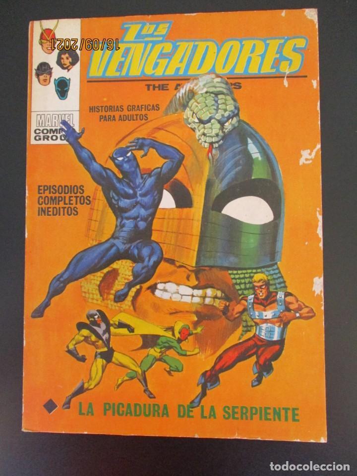 VENGADORES, LOS (1969, VERTICE) 33 · IV-1972 · LA PICADURA DE LA SERPIENTE (Tebeos y Comics - Vértice - Vengadores)