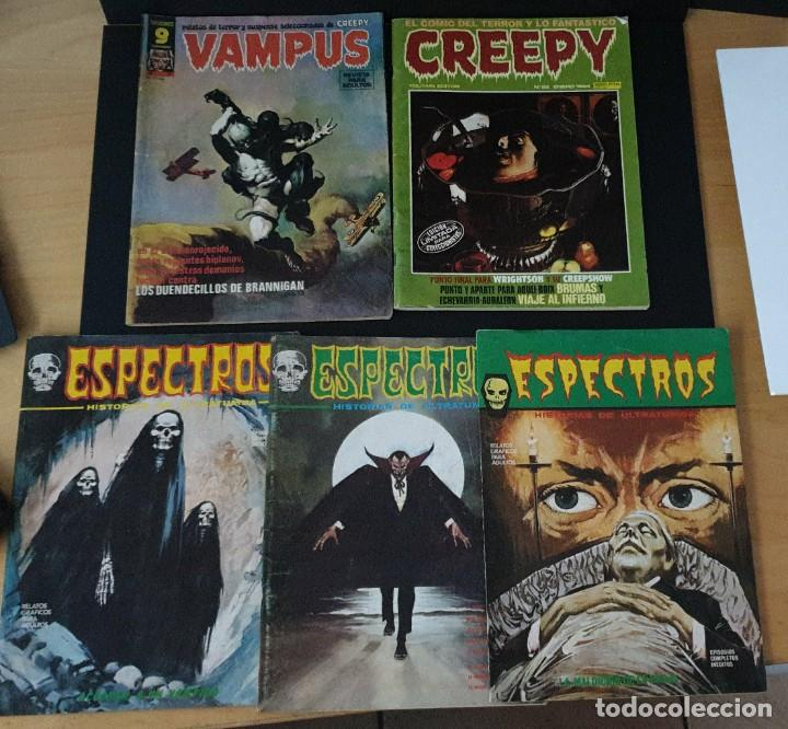 LOTE 3 ESPECTROS 1 CREEPY Y 1 VAMPUS VÉRTICE EN BUEN ESTADO MIRAR FOTOS (Tebeos y Comics - Vértice - Terror)