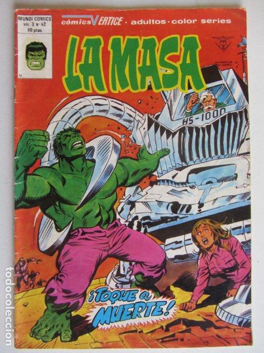 LA MASA TOQUE A MUERTE - VOL. 3 - Nº 42 - VERTICE - MUNDI-COMICS.ARX50 LV (Tebeos y Comics - Vértice - La Masa)