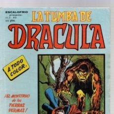 Cómics: LA TUMBA DE DRACULA. VOL. 2. Nº 3. VERTICE, 1973. Lote 289237753