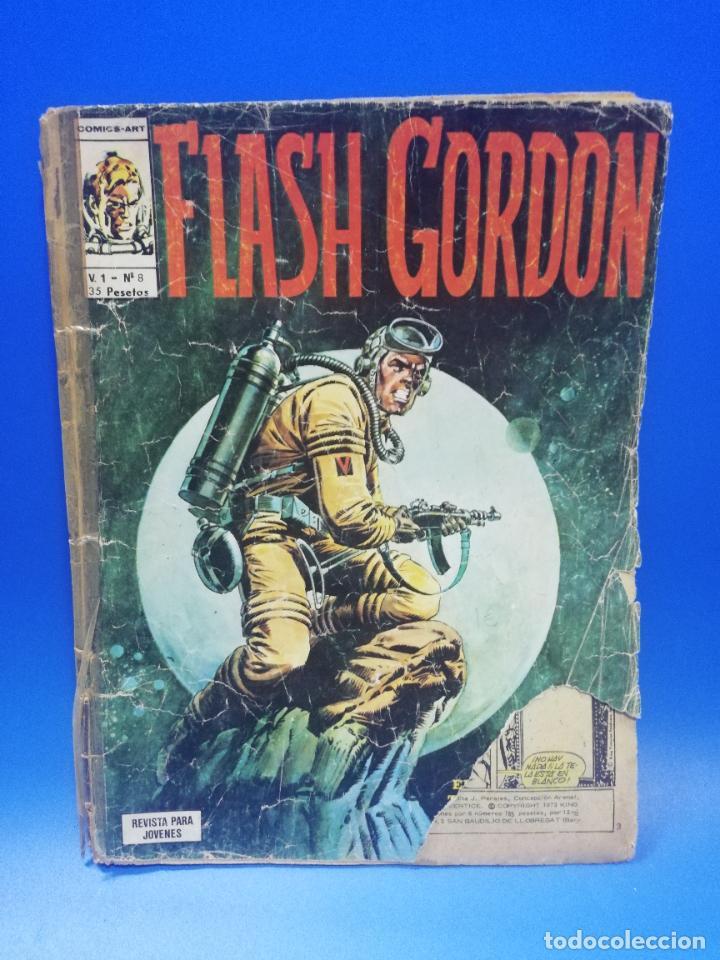 FLASH GORDON. Nº8. COMICS ART. 1974. EDICIONES VERTICE. PAGS. 50. (Tebeos y Comics - Vértice - Flash Gordon)