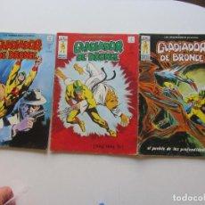Cómics: LOS INSUPERABLES Nº 4 5 6 GLADIADOR DE BRONCE COMPLETA MUNDI-COMICS MUNDICOMICS VERTICE ARX49 LV. Lote 289837733