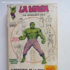 Cómics: LA MASA EDICIÓN GIGANTE EL INCREÍBLE HULK -1971.AVENTURAS LA MASA VÉRTICE VOL.1 TACO C24X4 LV. Lote 290137873