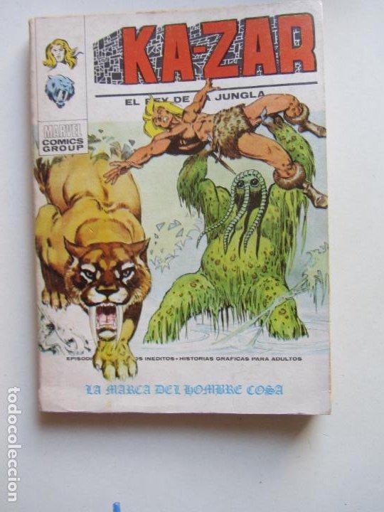 KA-ZAR VOL I EL REY DE LA JUNGLA N° 4 LA MARCA DEL HOMBRE COSA VERTICE TACO C24X3 LV (Tebeos y Comics - Vértice - V.1)