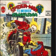 Cómics: ESPECIAL SUPER HÉROES PRESENTA SPIDER-MAN Y EL MOTORISTA FANTASMA VÉRTICE MARVEL NÚMERO 7. Lote 293622058