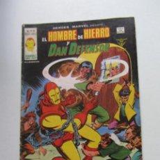 Cómics: HEROES MARVEL V.2 Nº 45 EL HOMBRE DE HIERRO Y DAN DEFENSOR. MUNDI-COMICS VÉRTICE ARX151 LV. Lote 294075498