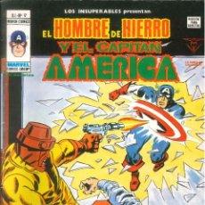 Cómics: LOS INSUPERABLES PRESENTAN: HOMBRE DE HIERRO Y CAPITÁN AMÉRICA VOL. 1 VÉRTICE MARVEL NÚMERO 17. Lote 294747713