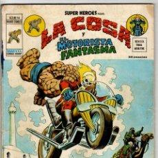 Cómics: SUPER HEROES V2 Nº 44 (VERTICE 1976) LA COSA Y MOTORISTA FANTASMA.. Lote 295447098
