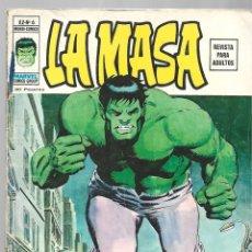 Cómics: LA MASA VOL. 2 NÚMERO 6, 1975, VERTICE. Lote 295527373
