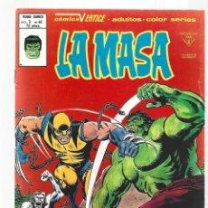 Cómics: LA MASA VOL. 3 NÚMERO 40, 1980, VERTICE, MUY BUEN ESTADO.. Lote 295527658