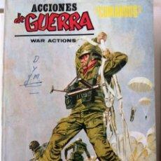Cómics: ACCIONES DE GUERRA. COMANDOS. TIBURONES DEL CIELO. EDCIONES VERTICE 1973. (NUMERO 5). Lote 296721268