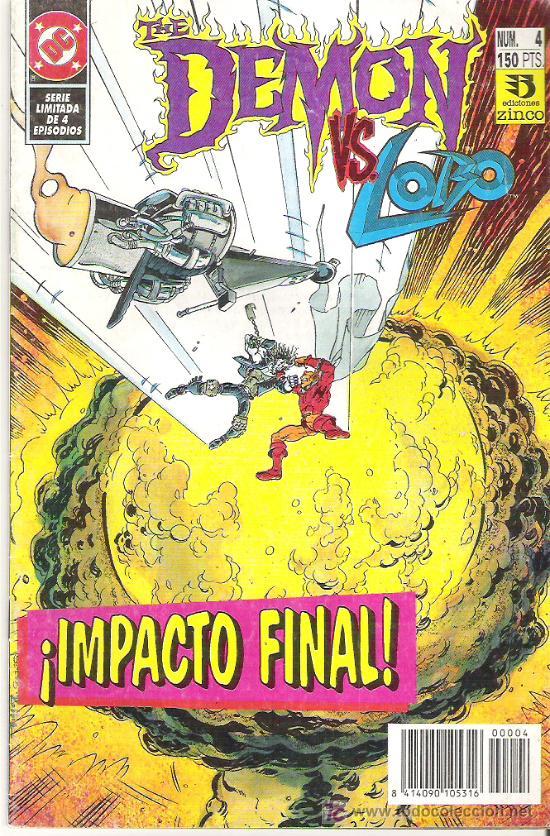 THE DEMON VS LOBO *** IMPACTO FINAL NUM4 1992 (Tebeos y Comics - Zinco - Lobo)