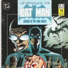 Cómics: LEYENDAS DE BATMAN *** PRESA ***NUM 13****1990. Lote 7157967