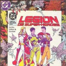 Cómics: LEGION DE SUPERHEROES TOMO CON LOS NUMEROS 24 AL 28 POR LEVITZ, GIFFEN Y GORDON. Lote 27186965