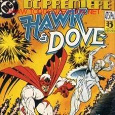 Cómics: DC PREMIERE- HAWK & DOVEW EDITORIAL ZINCO-1990-KARL KESEL SCOTT HANNA CAJ136 Y CAJA 14 SUELTO CONSU. Lote 2925339