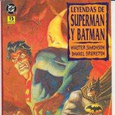 Cómics: OCASION : LEYENDAS DE SUPERMAN Y BATMAN TOMO NUM 2, OFERTA. Lote 25141902