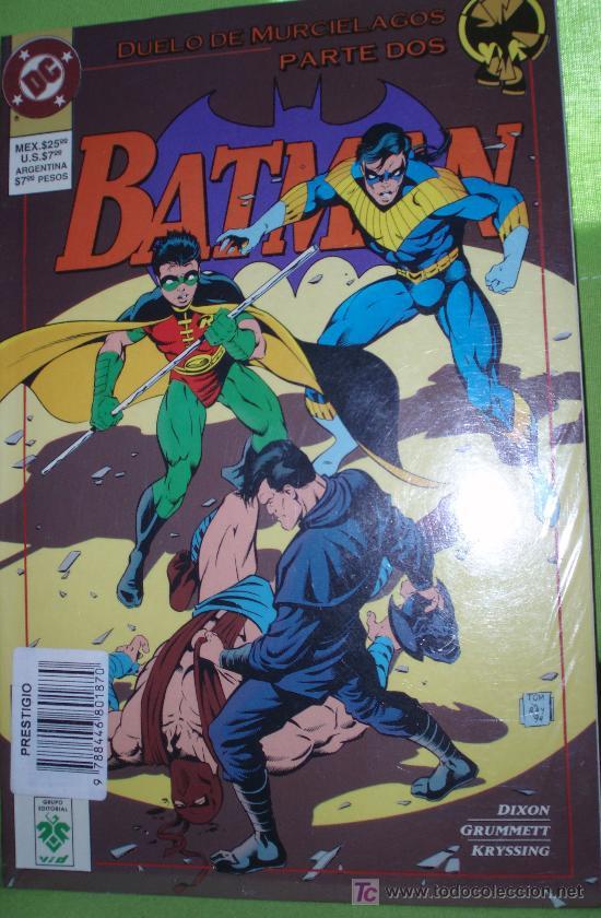 BATMAN : DUELO DE MURCIELAGOS (PARTE DOS) (Tebeos y Comics - Zinco - Prestiges y Tomos)