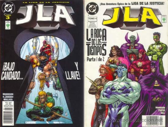 LIGA DE LA JUSTICIA DE AMERICA JLA ETAPA GRANT MORRISON TOMOS 3 Y 4 (Tebeos y Comics - Zinco - Liga de la Justicia)