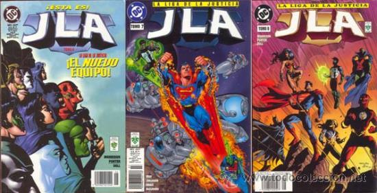 LIGA DE LA JUSTICIA DE AMERICA JLA ETAPA GRANT MORRISON TOMOS 6, 7 Y 8 (Tebeos y Comics - Zinco - Liga de la Justicia)
