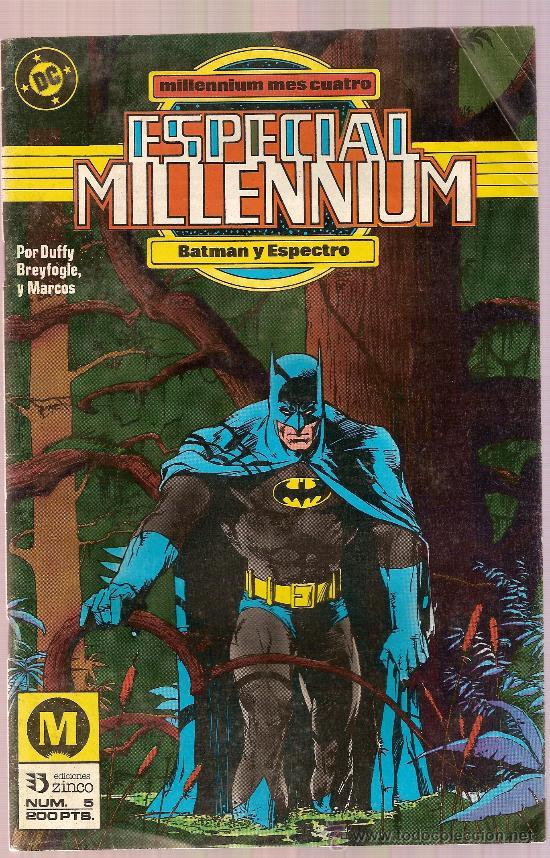 COMIC ESPECIAL MILENIUM Nº 5 BATMAN Y ESPECTRO EDICIONES ZINCO (Tebeos y Comics - Zinco - Batman)