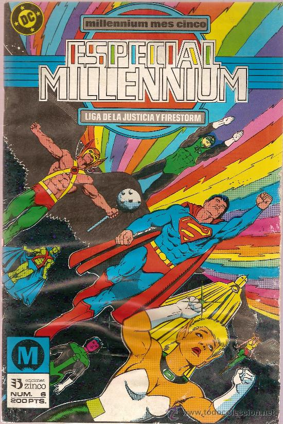 COMIC ESPECIAL MILLENNIUM Nº 6 LIGA DE LA JUSTICIA Y FIRESTORM ED ZINCO (Tebeos y Comics - Zinco - Liga de la Justicia)