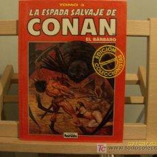 Cómics: LA ESPADA SALVAJE DE CONAN EL BARBARO, TOMO 3. Lote 26522927