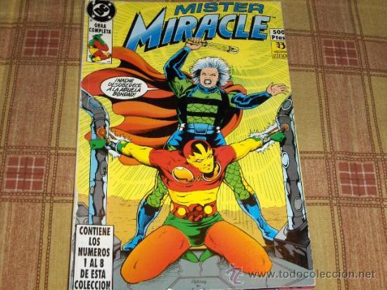 RETAPADO ZINCO MISTER MIRACLE Nº 1 CON LOS NºS 1 AL 8. 1990. 500 PTS. . (Tebeos y Comics - Zinco - Retapados)