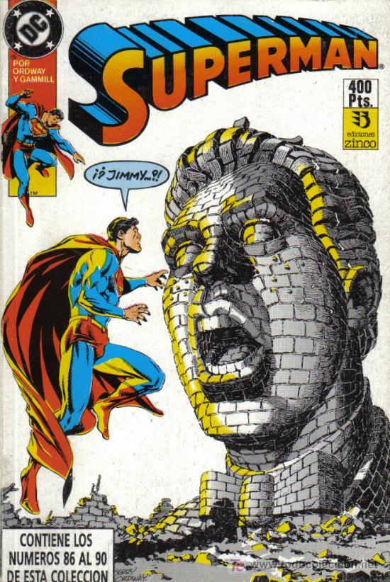 SUPERMAN - Nº 86 AL 90 - TOMO RECOPILATORIO DE EDICIONES ZINCO - SEPTIEMBRE-1984 - COMO NUEVO (Tebeos y Comics - Zinco - Retapados)